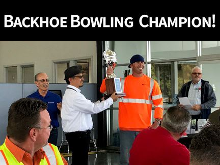 Backhoe Bowling Competition